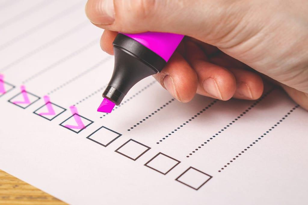 Checkliste Terminplaner