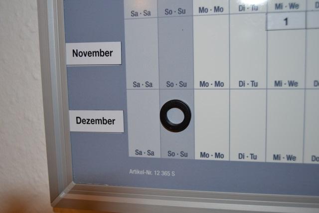 magnetoplan Jahresplaner – Tagesfelder