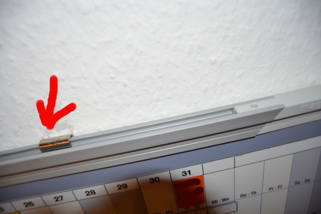magentoplan Jahresplaner Wandbefestigung